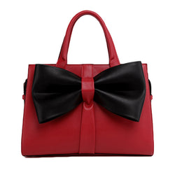 Bow Leather Women Handbag