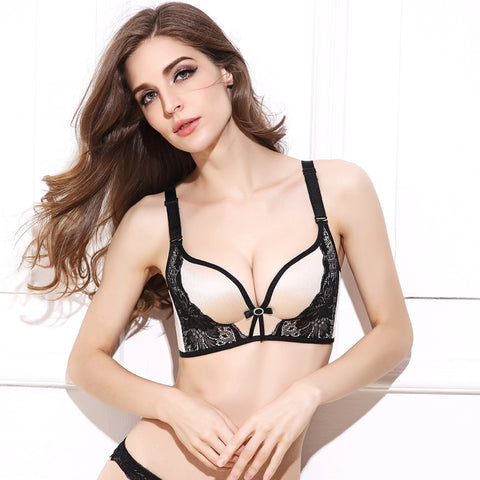cd0c48c5e6810 ... Ladies Push Up Bra Lace Bralette Adjusted Comfortable Wireless Bra  Lingerie Plus Size C D Cup ...