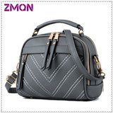 ZMQN Shoulder Bag Candy Colors/ Fashion/ Small Leather Crossbody Bags For Women Messenger Bag Girl Zipper