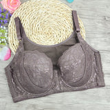 High Quality plus size 110DEF Thin large cups vest front fastener no trace lace Sexy  bras