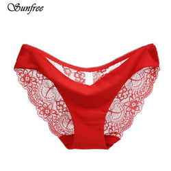 S-2XL!Hot sale! l Ladies sexy lace panties seamless cotton breathable/ Hollow briefs Plus Size