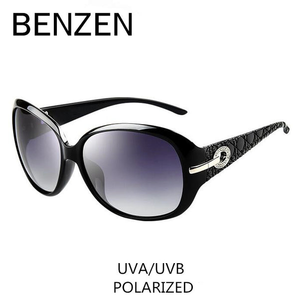 Polarized Elegant Rhinestone Ladies Sun Glasses Oculos De Sol BENZEN Shades With Case 6008