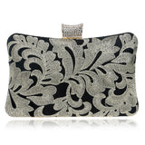 Embroidery Clutch Diamonds Luxurious Ladies Evening Bags/ Chain Shoulder Small Purse/ Evening Dress Bag