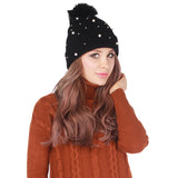 Winter Knitted Crochet/ Hat/Beanies/Fur Pom pom Cap for women