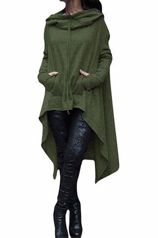 Autumn/Winter Plus Size Loose Long Sleeve Hooded Sweatshirt Female Casual Pullover Hoodie