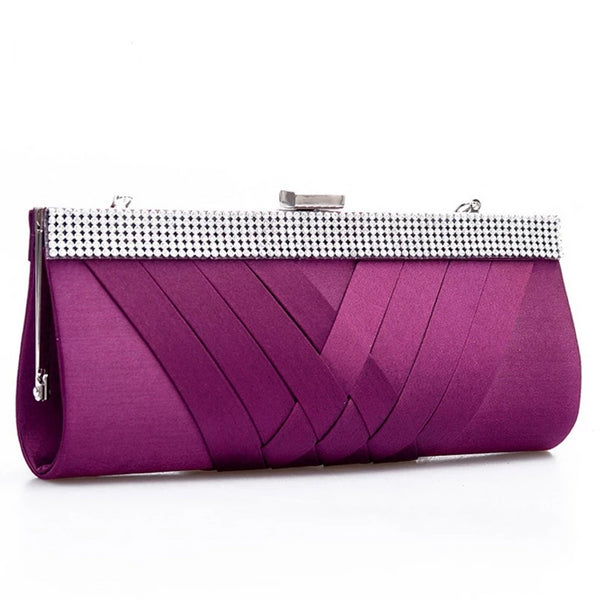 Hot ladies Clutch/Purse Chain Handbags/Evening Bag for Purple Bride Wedding Party