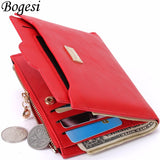 Coin Bag zipper wallets With passport holder ID Card Case