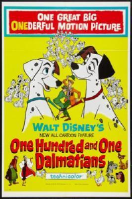 101 Dalmatians Movie Poster 27in x 40in