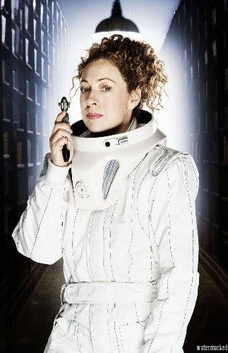 Alex Kingston Photo Sign 8in x 12in