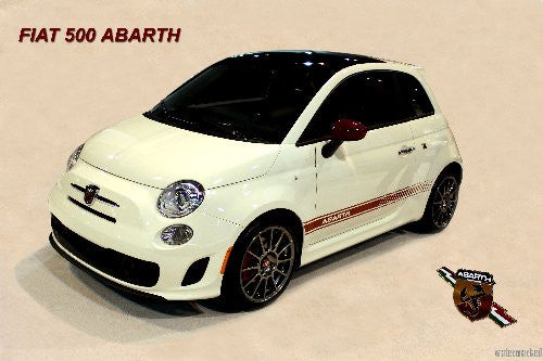 Fiat 500 Abarth Mini Poster 11X17