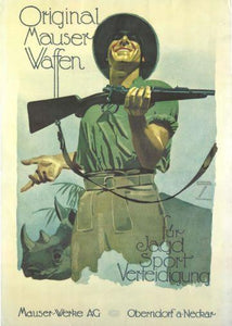 Mauser Rifle  poster tin sign Wall Art