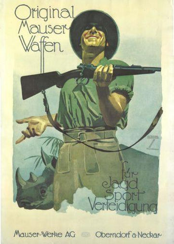 Mauser Rifle Movie poster tin sign Wall Art
