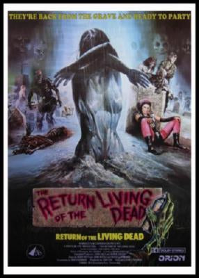 Return Of The Living Dead movie poster Sign 8in x 12in