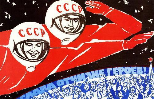 Soviet Propaganda Russian Cosmonauts Art poster tin sign Wall Art