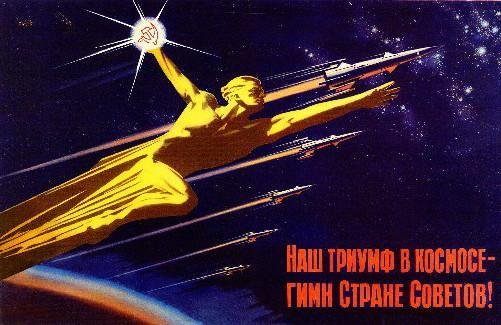 Soviet Propaganda Russian Space Travel Art poster tin sign Wall Art