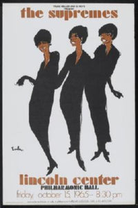 Supremes Photo Sign 8in x 12in