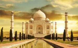 Taj Mahal poster tin sign Wall Art
