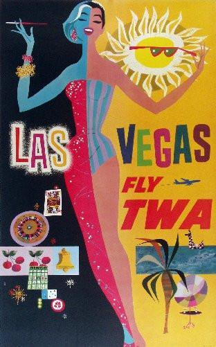 Travel Agency Art Las Vegas Twa Art poster tin sign Wall Art