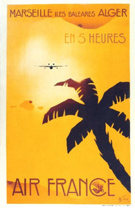 Travel Agency Art Marseille Air France 11inx17in Mini Art Poster