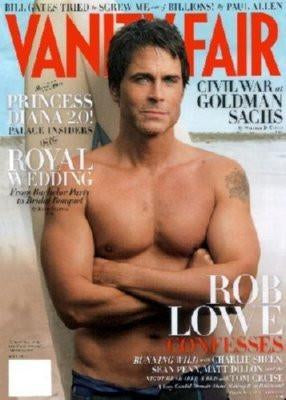 Rob Lowe Vanity Fair Cover poster tin sign Wall Art