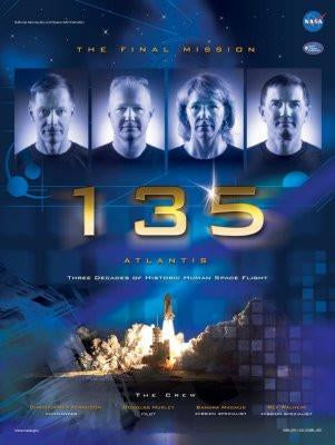 Sts-135 poster tin sign Wall Art