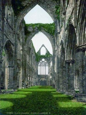 Tintern Abbey poster tin sign Wall Art