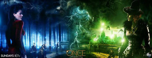 Once Upon A Time Poster Scroll Banner 36x14