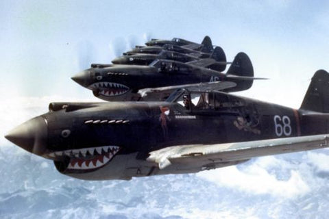 Flying Tigers 1942 Aircraft Poster 24in x36in