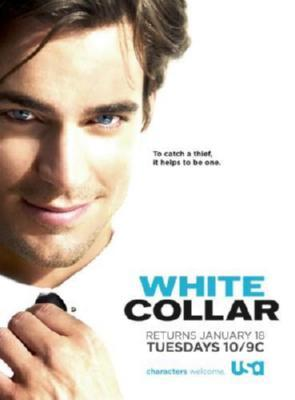 White Collar Photo Sign 8in x 12in
