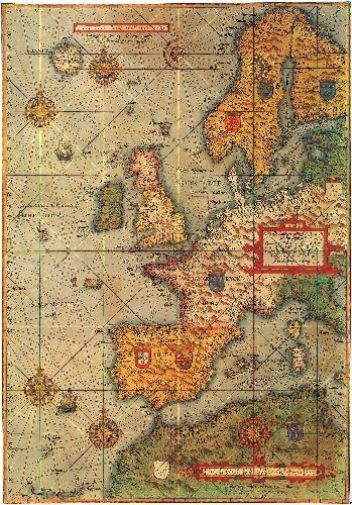 Antique Maps Poster 24inx36in #7