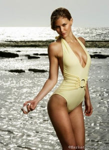 Bar Refaeli Poster 24x36 yellow swimsuit