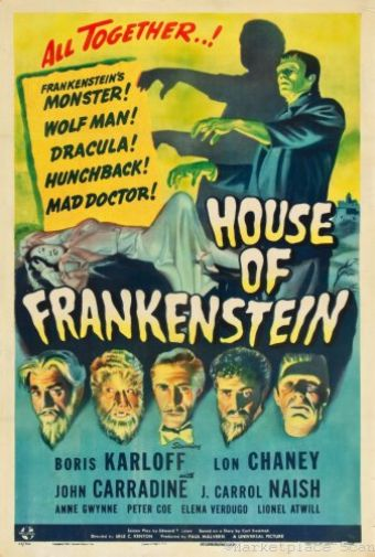 (24inx36in ) House Of Frankenstein poster Print