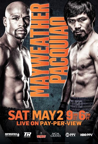 Floyd Mayweather vs. Manny Pacquiao Poster 24x36 LARGE 24x36
