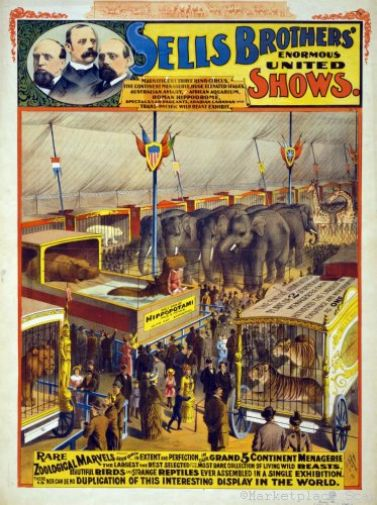 Circus Poster 26x36 vintage look