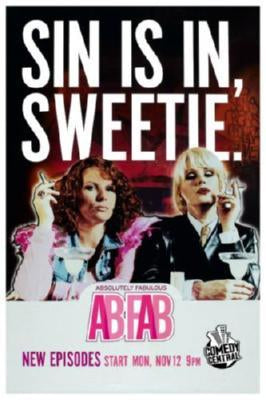 Abfab Absolutely Fabulous SIN IS IN, SWEETIE poster 27x40| theposterdepot.com