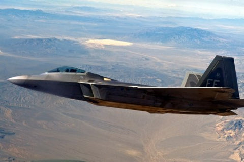 Military Aviation F22 Over Area51 Poster 24inx36in Poster
