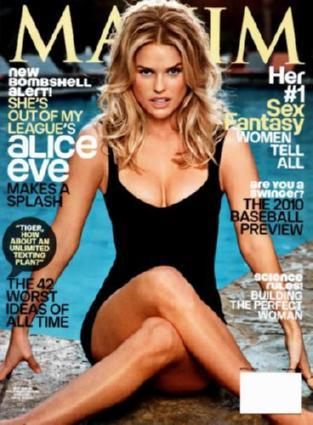 Alice Eve Maxim Cover poster tin sign Wall Art