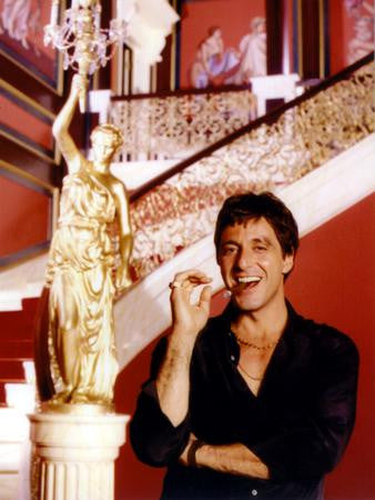 Al Pacino Scarface Smiling Cigar Mansion 11x17 Mini Poster