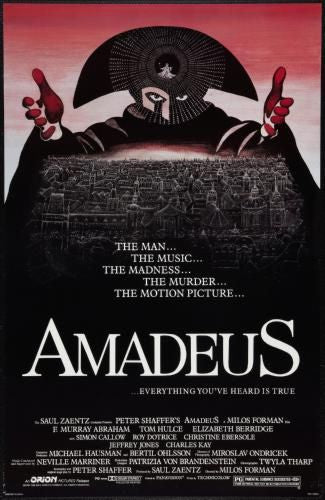 Amadeus Movie Poster 11inx17in Wall Art