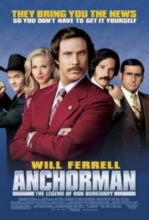 Anchorman Ron Burgundy Movie Poster 11x17 Mini Poster