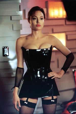 Angelina Jolie Poster Sexy Mr. Mrs Smith Leather 24x36 - Fame Collectibles