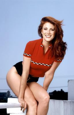 Angie Everhart Sexy Legs poster tin sign Wall Art