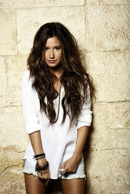 Ashley Tisdale Long White Shirt poster tin sign Wall Art