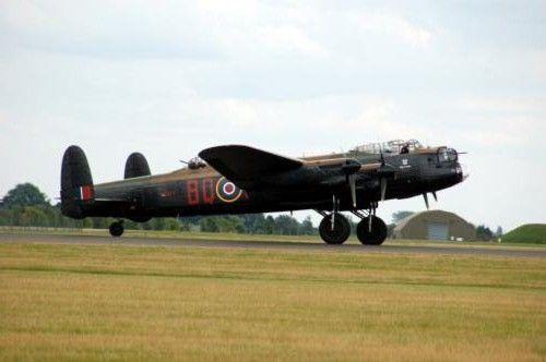 Avro Lancaster Bomber Photo Sign 8in x 12in