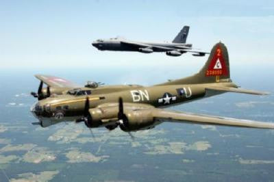 Aviation and Transportation B17 And B52 Poster 16