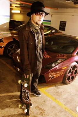 Bam Margera Poster Exotic Cars 27inx40in