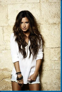 Ashley Tisdale Long White Shirt poster| theposterdepot.com