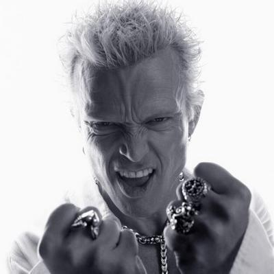 Billy Idol Bw poster tin sign Wall Art