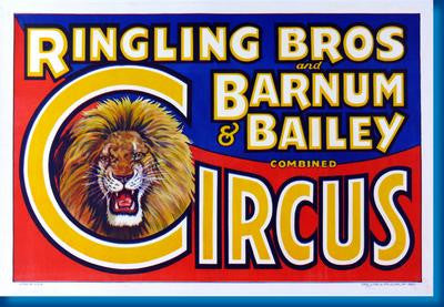 Ringling Bros. Circus Lion poster| theposterdepot.com