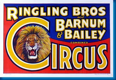 Ringling Bros. Circus Lion poster 27x40| theposterdepot.com